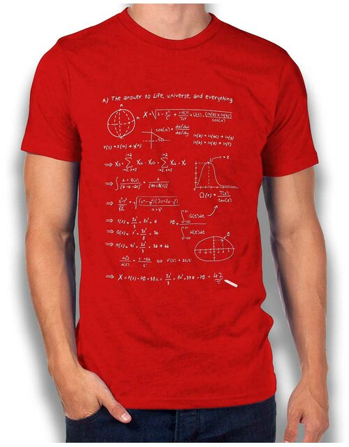 42 Formular Answer T-Shirt rot L