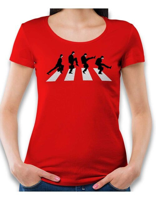 Monty Python Abbey Road Womens T-Shirt red L