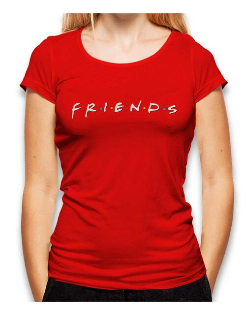Friends Logo Womens T-Shirt red L