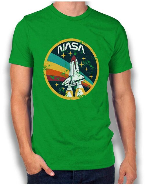Nasa Space Shuttle Vintage T-Shirt green-green L