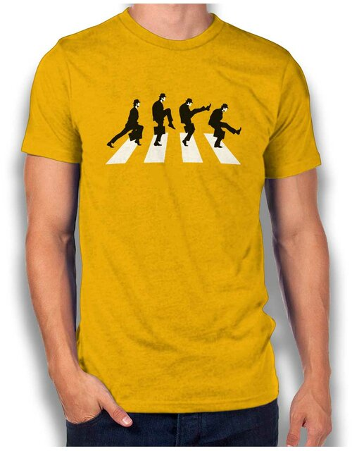 Monty Python Abbey Road T-Shirt yellow L