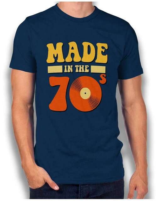 Made In The 70Ies T-Shirt dunkelblau L