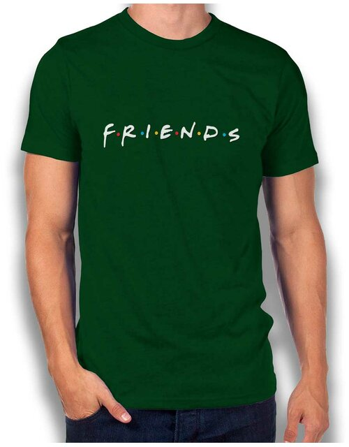 Friends Logo T-Shirt dunkelgruen L