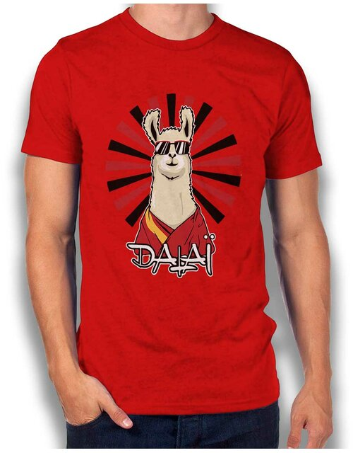 Dalai Lama T-Shirt red L