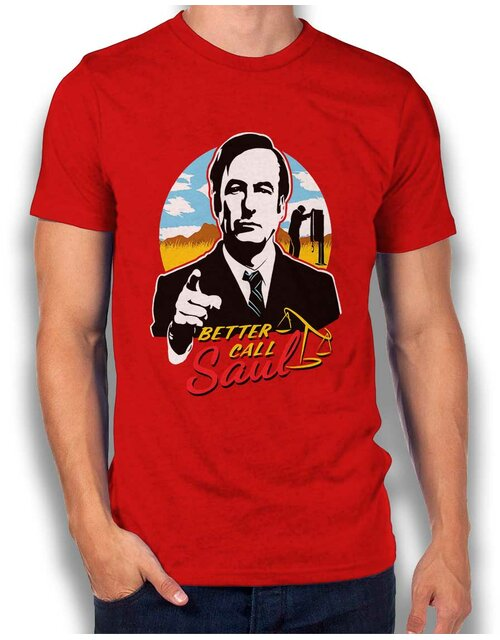 Better Call Saul Desert T-Shirt red L