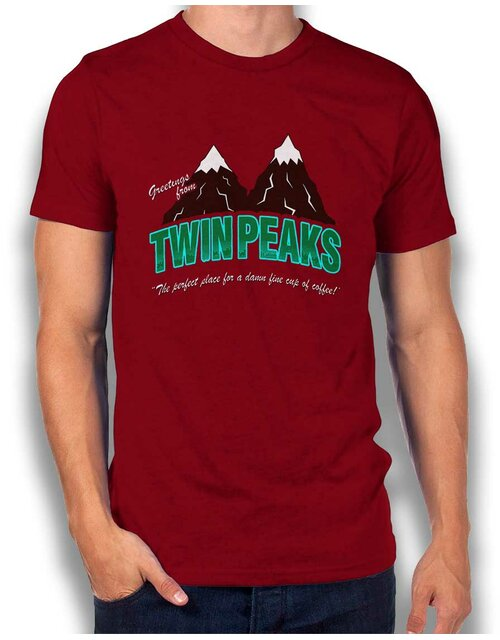Greeting Twin Peaks T-Shirt bordeaux S