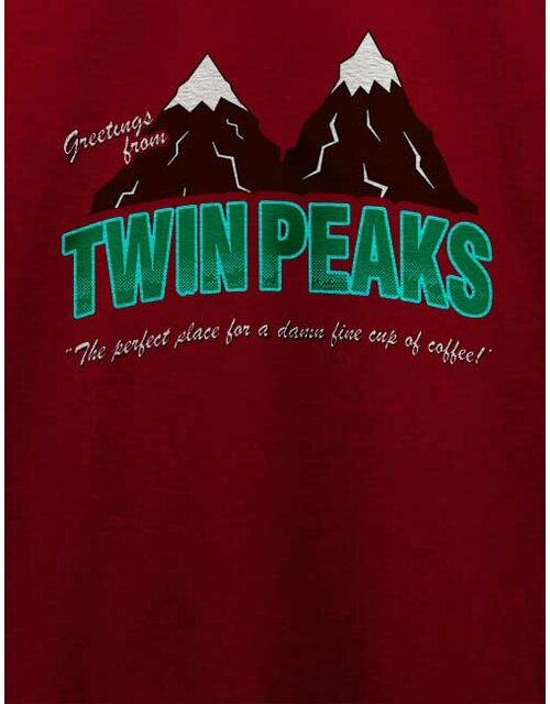 Greeting Twin Peaks T-Shirt bordeaux 2XL