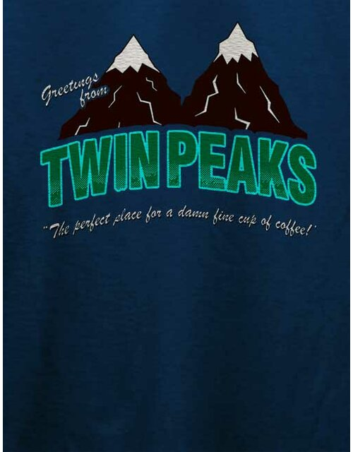 Greeting Twin Peaks T-Shirt dunkelblau S