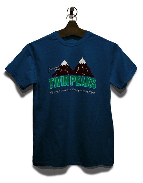 Greeting Twin Peaks T-Shirt dunkelblau M