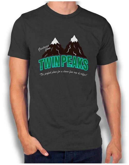 Greeting Twin Peaks T-Shirt dunkelgrau XL