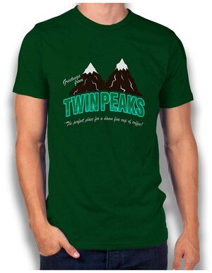 Greeting Twin Peaks T-Shirt dunkelgruen L
