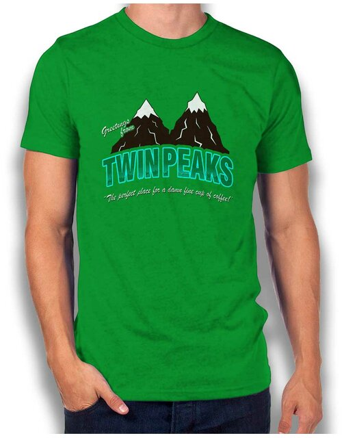 Greeting Twin Peaks T-Shirt gruen 2XL