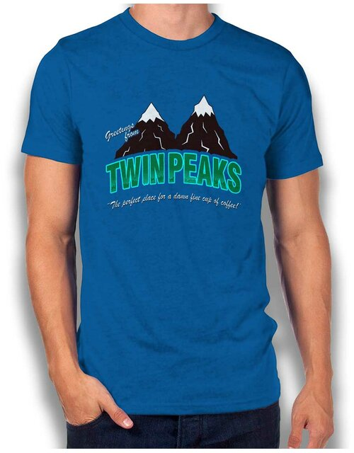 Greeting Twin Peaks T-Shirt royal S