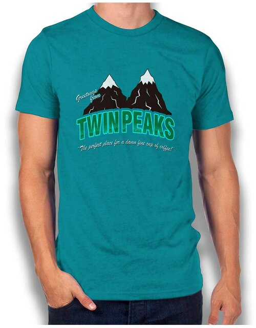 Greeting Twin Peaks T-Shirt tuerkis XL