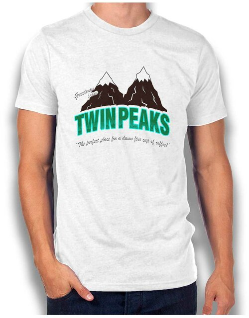 Greeting Twin Peaks T-Shirt weiss XL