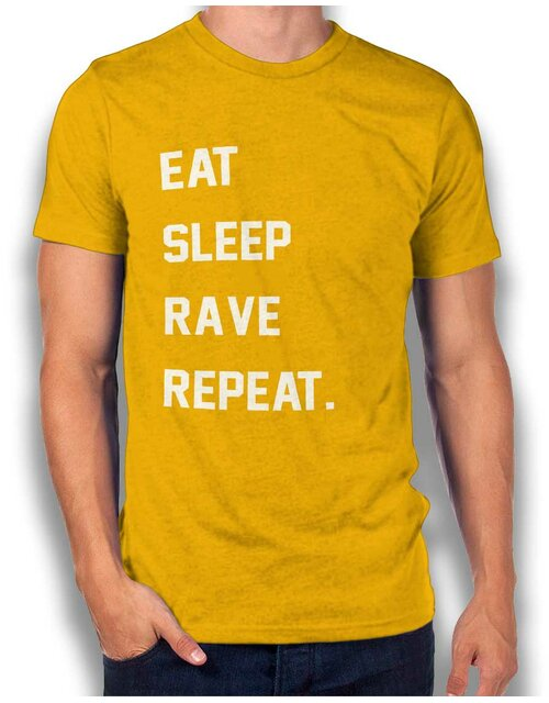 Eat Sleep Rave Repeat 2 T-Shirt gelb M