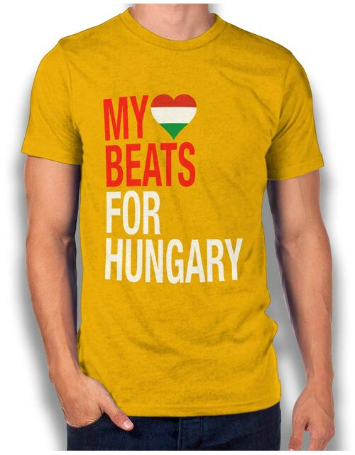 My Heart Beats For Hungary T-Shirt gelb S