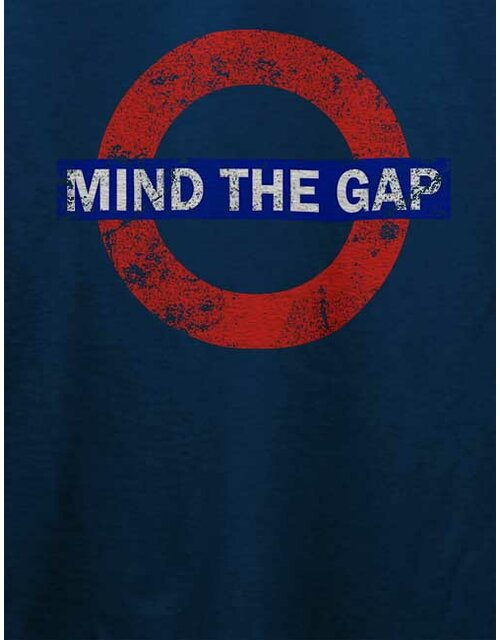 Mind The Gap Vintage T-Shirt dunkelblau L