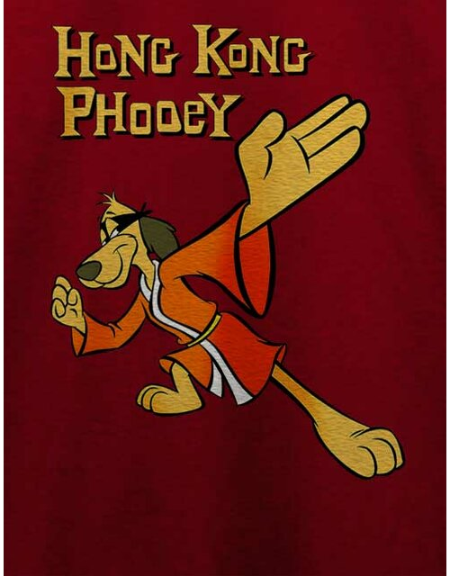 Hong Kong Phooey T-Shirt bordeaux L