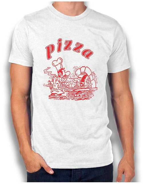 Pizza T-Shirt white L