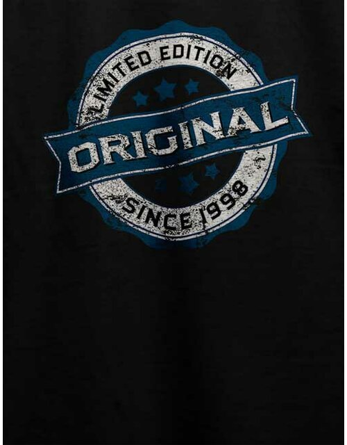 Original Since 1998 T-Shirt schwarz L
