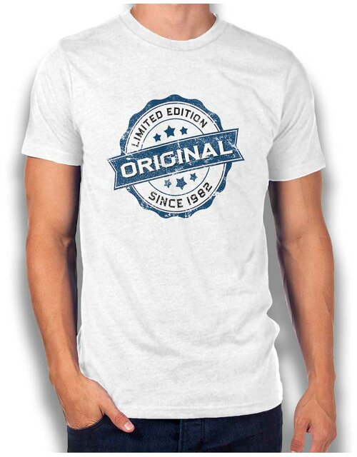 Original Since 1982 T-Shirt weiss L