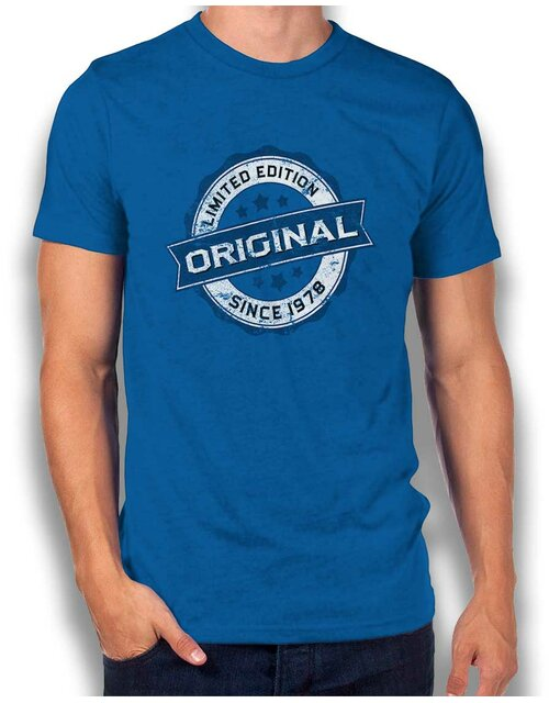 Original Since 1978 T-Shirt royal L