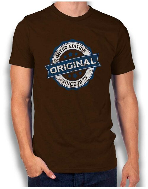 Original Since 1977 T-Shirt braun L