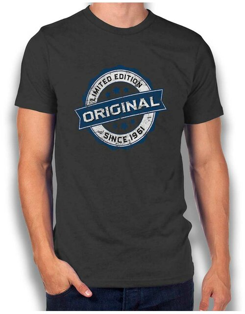 Original Since 1961 T-Shirt dunkelgrau L