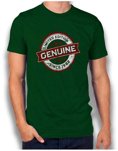 Genuine Since 1982 T-Shirt dunkelgruen L