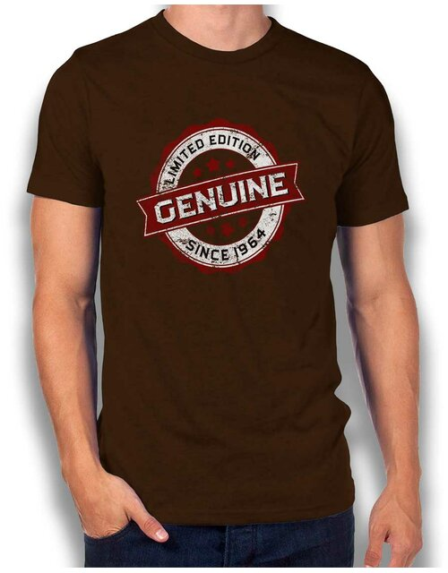 Genuine Since 1964 T-Shirt braun L