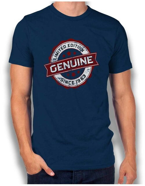Genuine Since 1963 T-Shirt dunkelblau L
