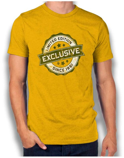Exclusive Since 1961 T-Shirt gelb L