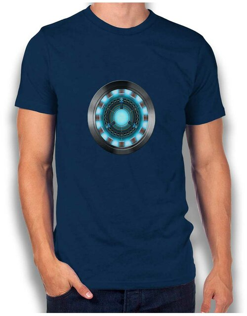Arc Reactor Ironman 2 T-Shirt navy L