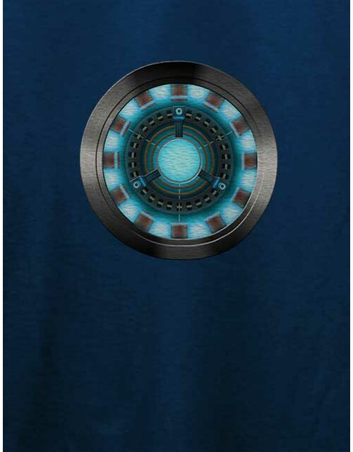 Arc Reactor Ironman 2 T-Shirt dunkelblau L