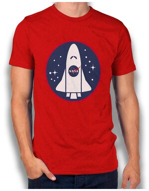 Nasa Shuttle Logo T-Shirt rot L