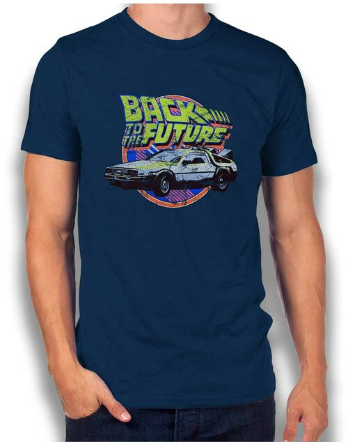Back To The Future T-Shirt dunkelblau L