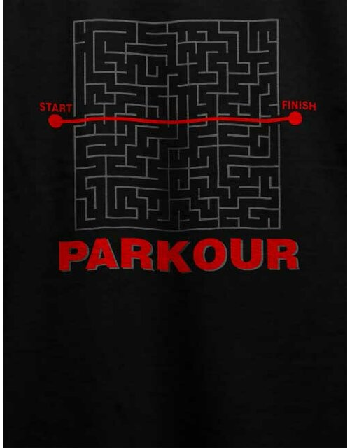 Parkour Start Finish T-Shirt schwarz L
