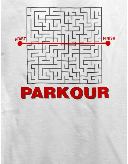 Parkour Start Finish T-Shirt white L