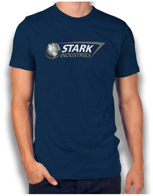 Stark Industries T-Shirt dunkelblau L