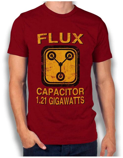 Flux Capacitor Back To The Future T-Shirt bordeaux L