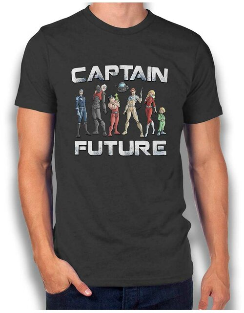 Captain Future T-Shirt dunkelgrau L