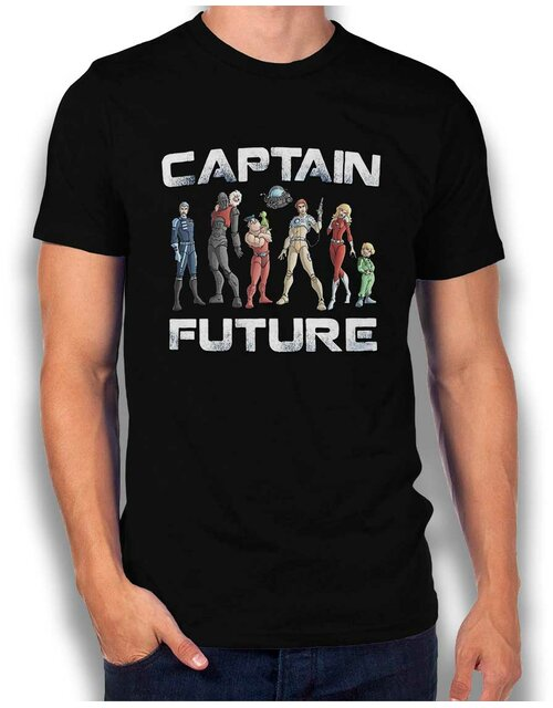 Captain Future T-Shirt schwarz L