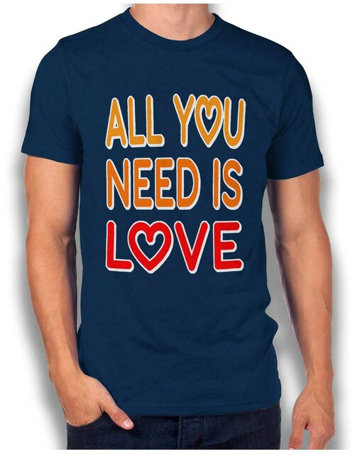 All You Need Is Love T-Shirt dunkelblau L
