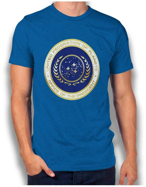 United Federation Of Planets T-Shirt royal L