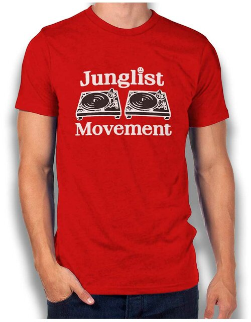 Junglist Movement T-Shirt red L