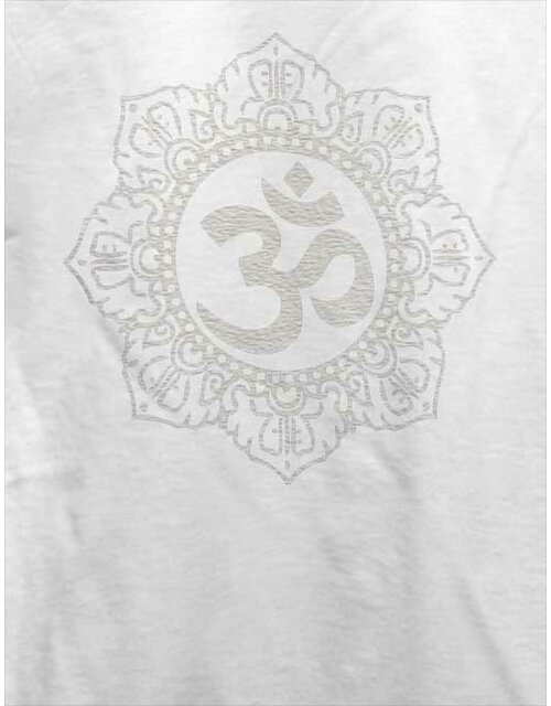 Om Symbol White T-Shirt weiss L
