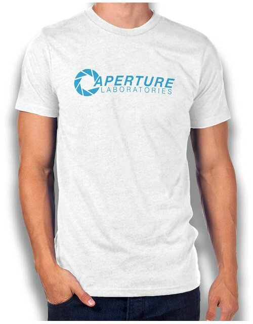 Aperture Laboratories T-Shirt weiss L