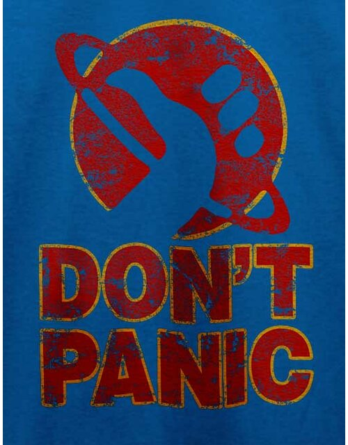 Dont Panic T-Shirt royal L