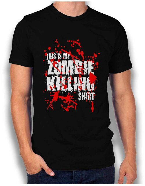 This Is My Zombie Killing Shirt T-Shirt schwarz L